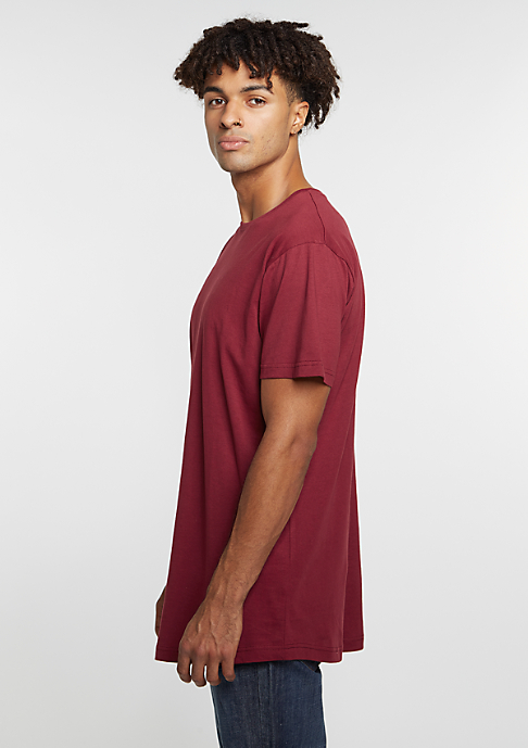 Urban Classics T-Shirt Shaped Long Tee burgundy
