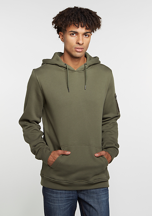 Urban Classics Hooded-Sweatshirt Sweat Bomber olive