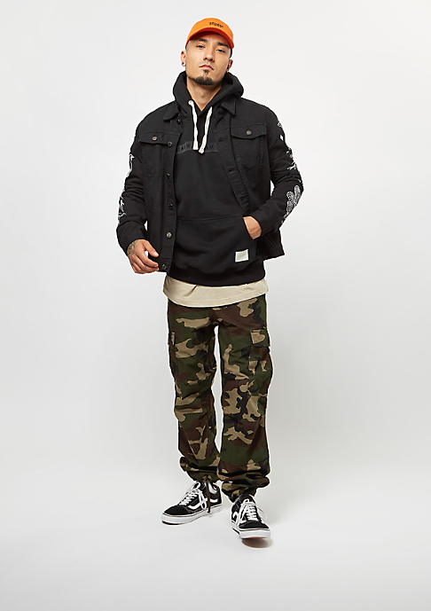 Criminal Damage Hooded-Sweatshirt Hiber Black/Black
