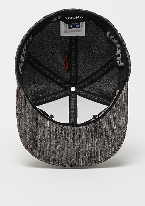 Nixon Baseball-Cap Deep Down Athletic Textured black woven