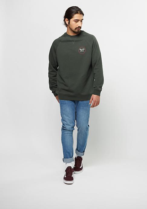 Brixton Sweatshirt Wheeler Fleece washed black/red