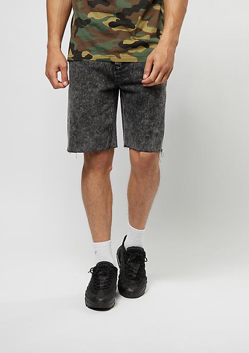 Cayler & Sons Jeans-Shorts ALLDD Raw Edge Denim black