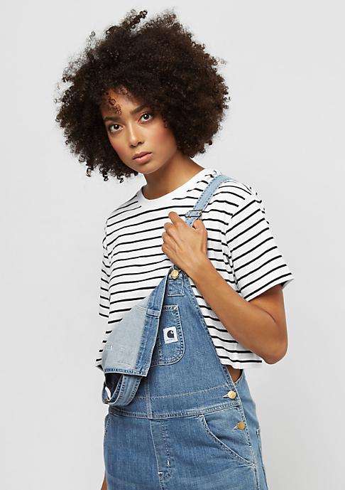 Urban Classics Short Striped Oversized white/black