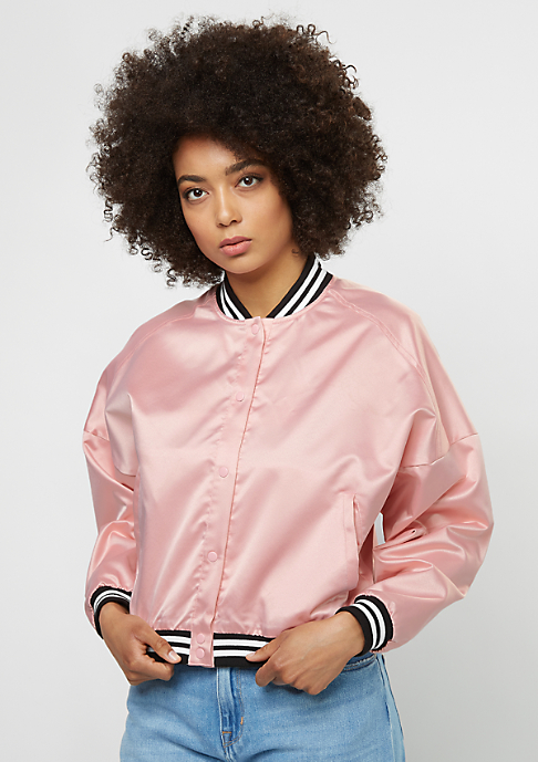 Flatbush Übergangsjacke College Blouson silver pink