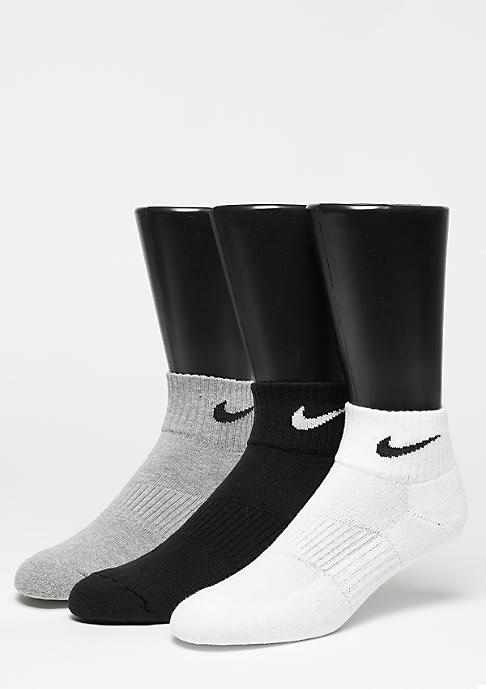 NIKE Sportsocke NK Cush QT 3er Pack grey heather/black/white