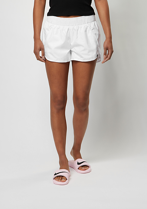 NIKE Sport-Shorts Swoosh Mesh white/white/black