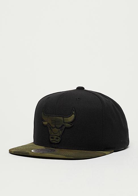 Mitchell & Ness Snapback-Cap Camo Fill NBA Chicago Bulls black