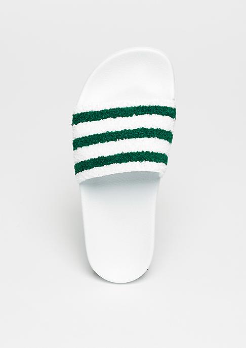adidas Adilette white/sub green/white