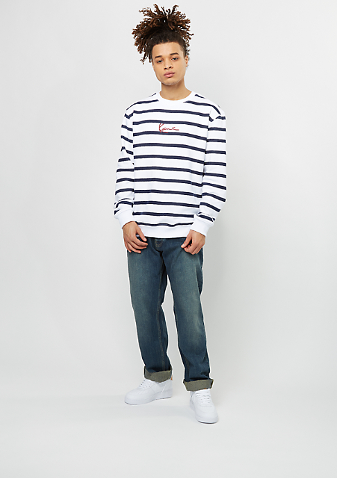 Karl Kani Sweatshirt Stripes white/navy
