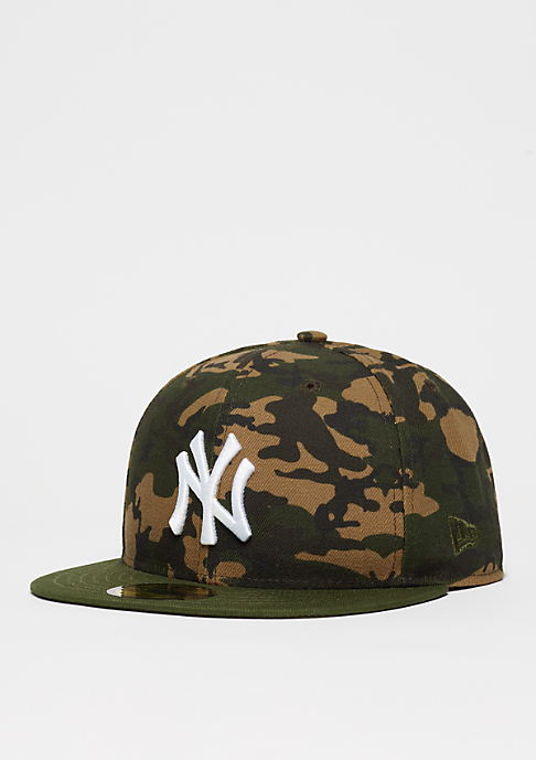 New Era Fitted-Cap 59Fifty Camo Team MLB New York Yankees woodland