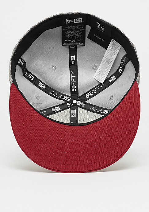 New Era 59Fifty Tech Jersey grey/cardinal