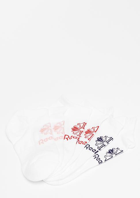 Reebok Classic Foundation No Show 3er white
