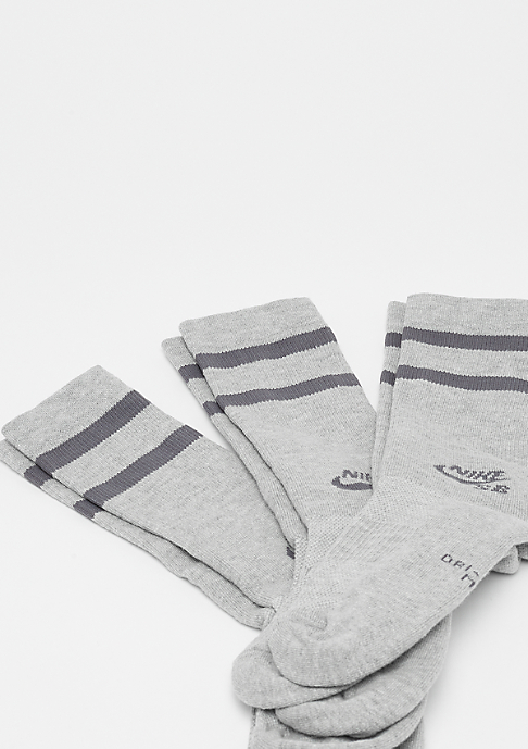 NIKE SB Crew Skateboarding 3er dark grey heather/dark grey