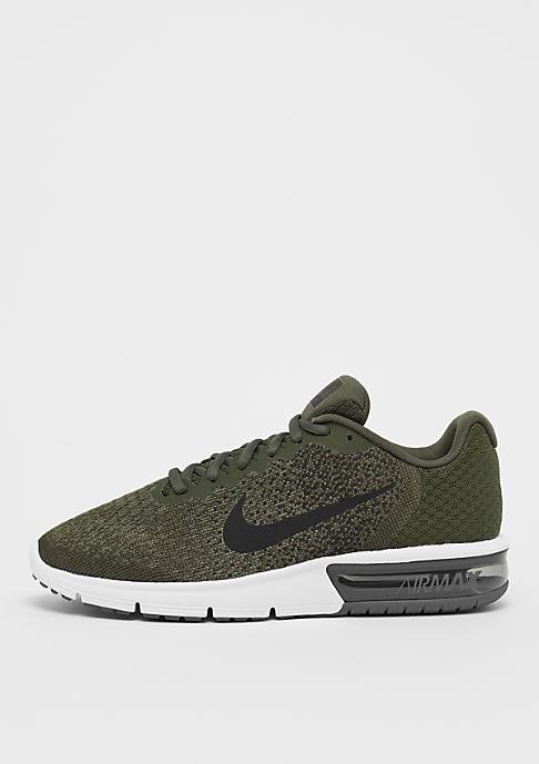 Nike Running Air Max Sequent cargo khaki/black/medium olive/dark grey