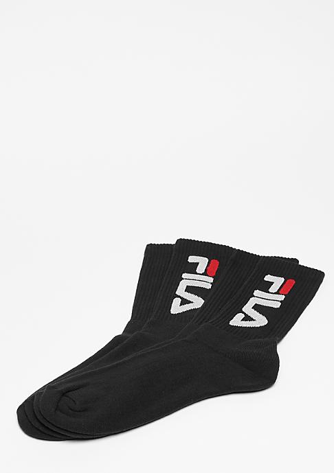 Fila Unisex Tennis Socks 2-Pair F9598 black