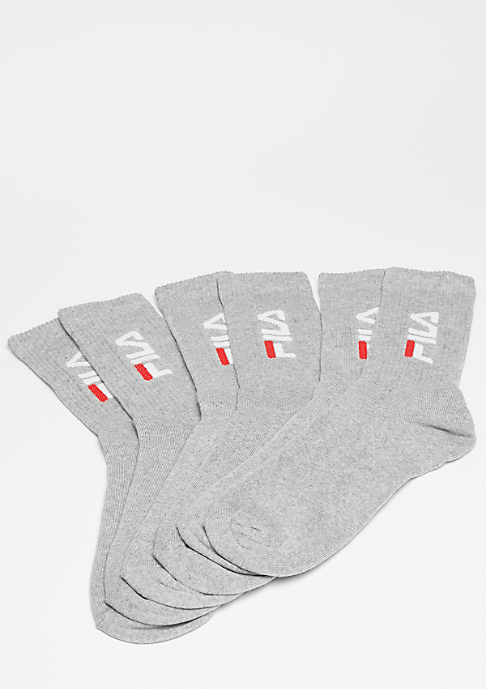Fila Unisex Tennis Socks 3-Pair F9599 grey