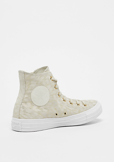 Converse Chuck Taylor All Star Shimmer Suede Hi buff/buff/white
