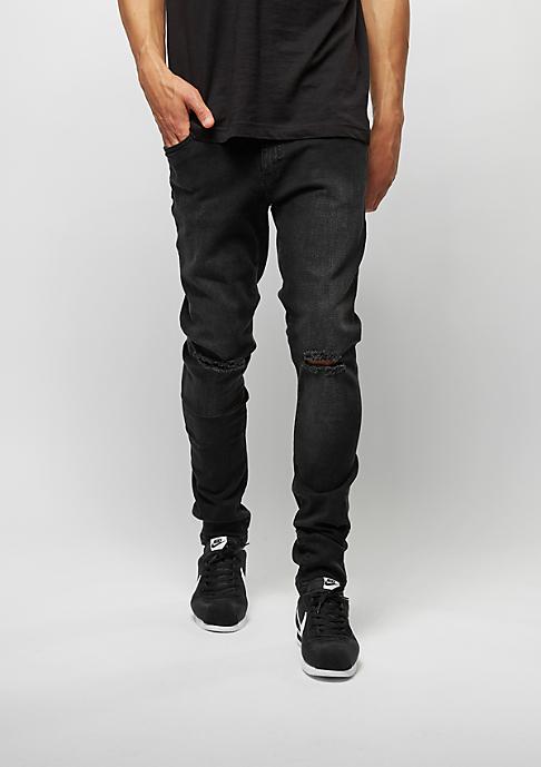 Urban Classics Slim Fit Knee Cut Denim black washed