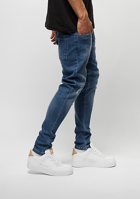 Urban Classics Skinny Ripped Stretch Denim blue washed