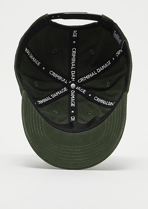 Criminal Damage  Cap Dalston olive/black