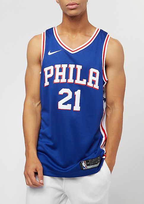 NIKE Basketball NBA Philadelphia 76ers Joel Embiid rush blue/white/university red