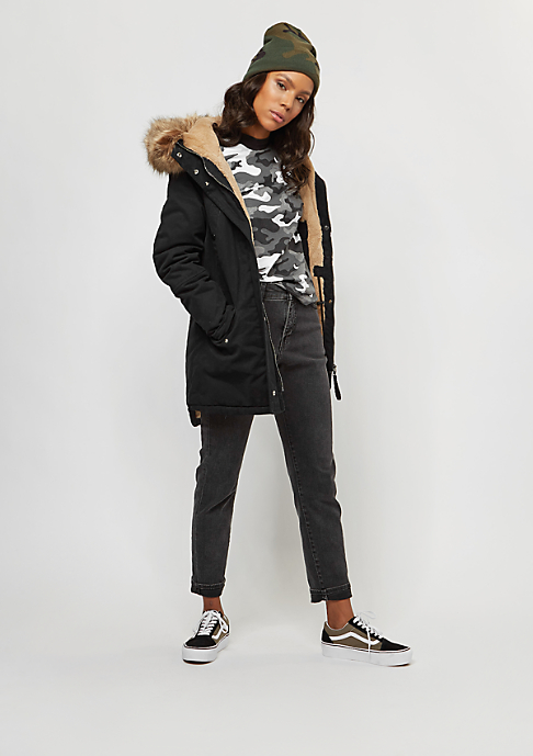 Sixth June Parka Fur black/beige