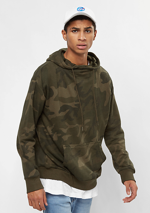 Urban Classics High Neck Camo olive camo