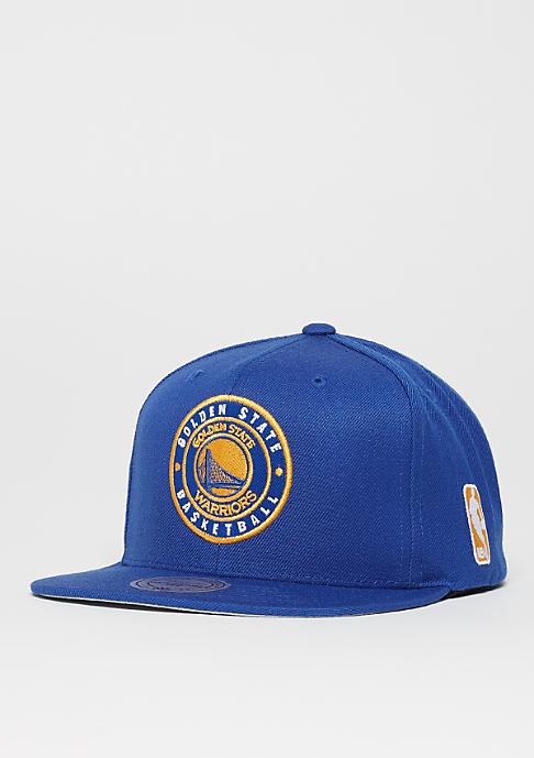 Mitchell & Ness Circle Patch Team NBA Golden State Warriors royal