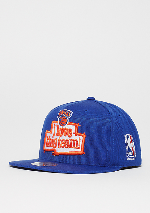 Mitchell & Ness I Love This Team NBA New York Knicks blue