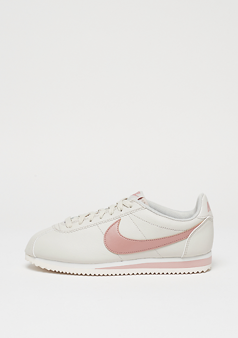 Damen Nike Schuhe – Wmns Classic Cortez Leather Light BoneParticle PinkSummit White