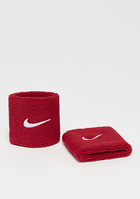 NIKE Swoosh Wristbands varsity red/white