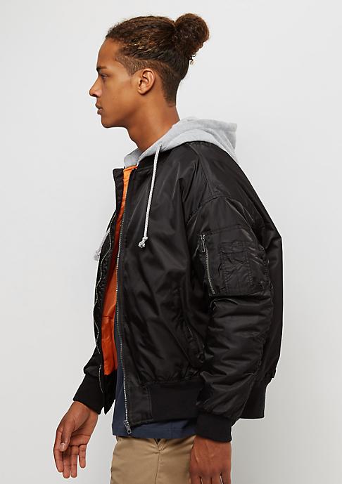 Urban Classics Hooded Oversized black/grey