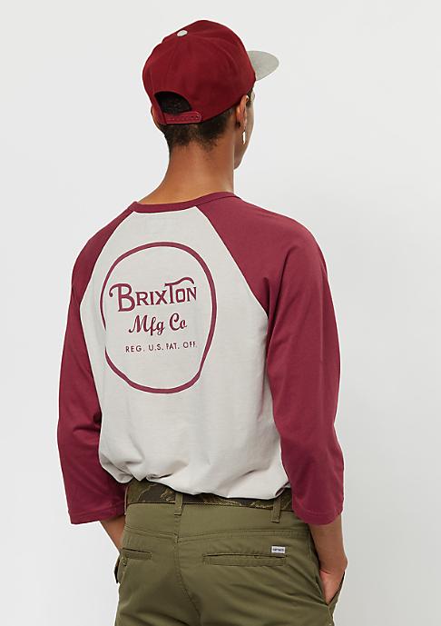 Brixton Wheeler 3/4 stone/burgundy