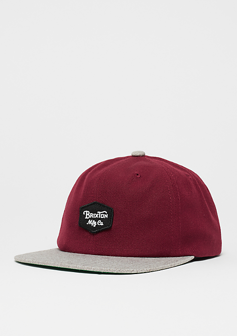 Brixton Trig burgundy/light heather grey
