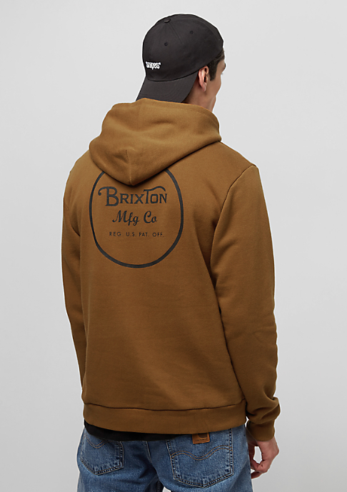 Brixton Wheeler Fleece copper/black