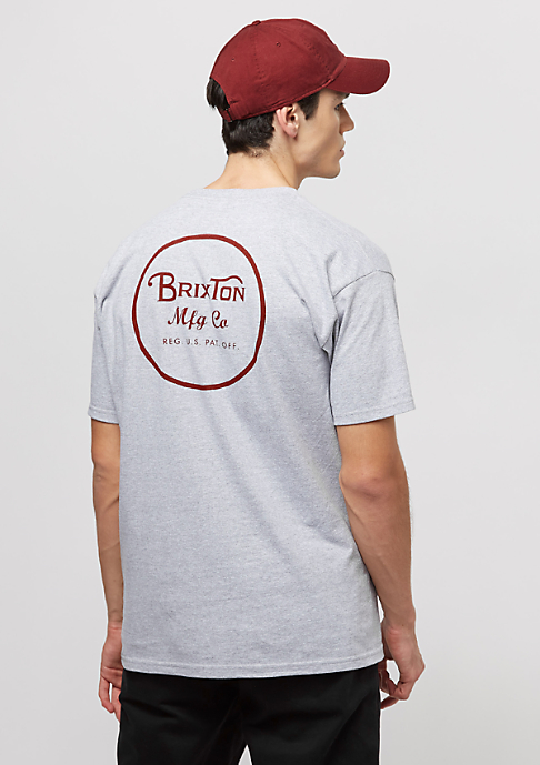 Brixton Wheeler II heather grey/burgundy