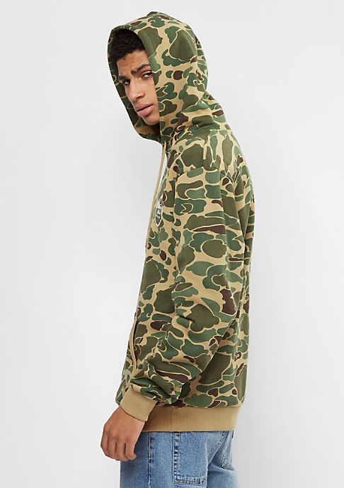 Brixton Wheeler Fleece olive camo
