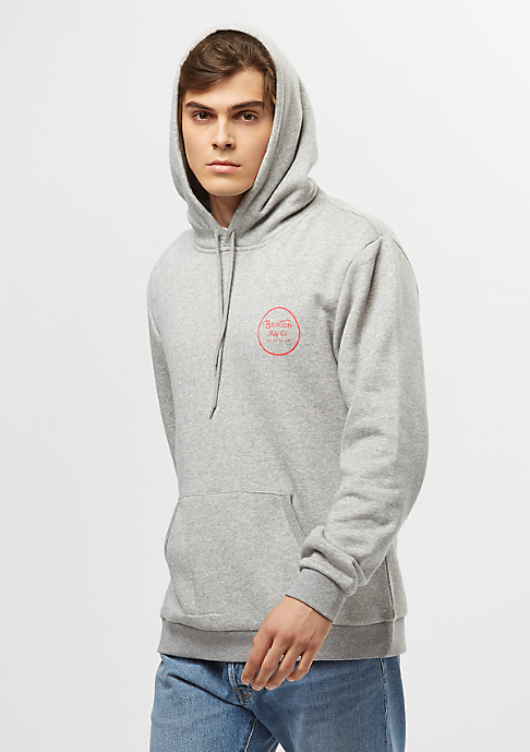 Brixton Wheeler Fleece heather grey/orange