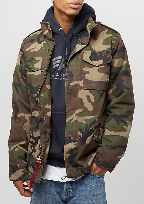 Alpha Industries Vintage M-65 CW woodland camo 65