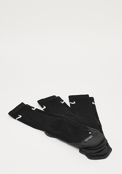 NIKE Dry Cushion Crew Training black/anthracite/white