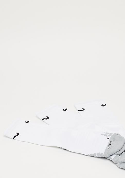 NIKE Dry Cushion Crew Training 3er white/wolf grey/black
