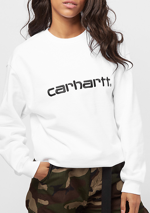 Carhartt WIP Sweatshirt white/black