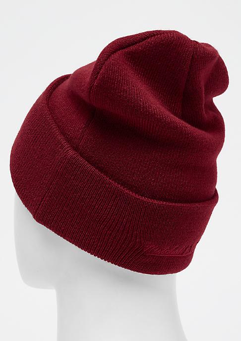 Mitchell & Ness Patch Cuff Knit burgundy
