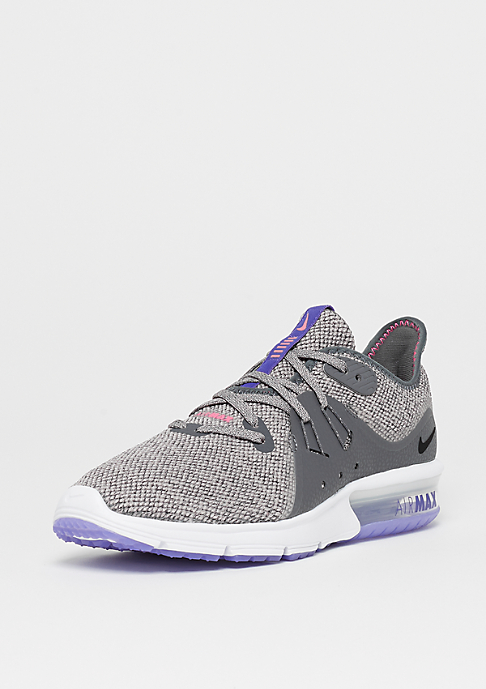 NIKE Wmns Air Max Sequent 3 dark grey/black-moon particle