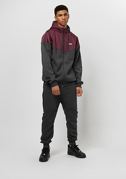 SNIPES Block Windbreaker rhododendron/charcoal