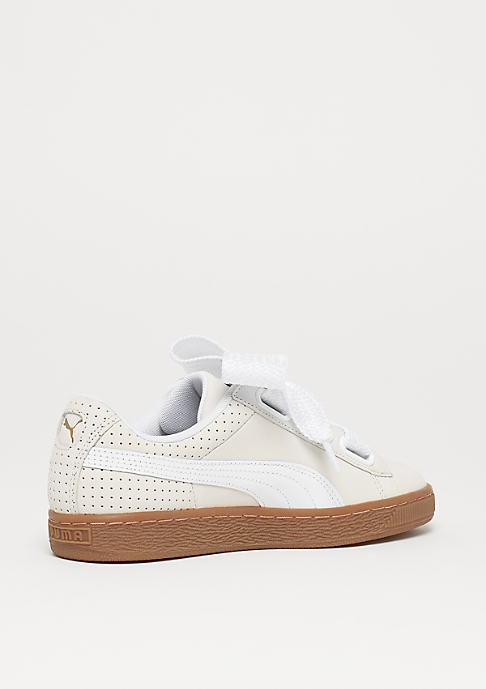 Puma Basket Heart Perf Gum white-black