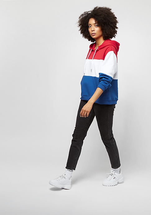 Urban Classics Oversize 3-Tone fire red/white/royal