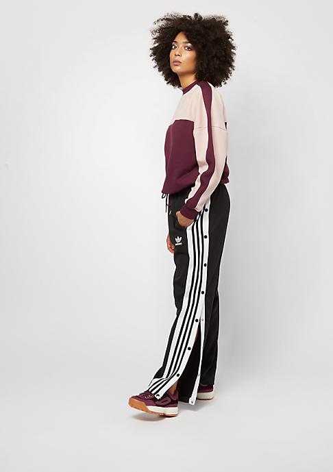 Urban Classics Oversize 2-Tone Stripe Crew port/light rose