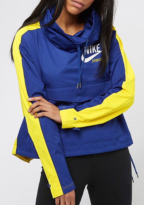 NIKE JKT PO Archive deep royal blue/vivid sulfur