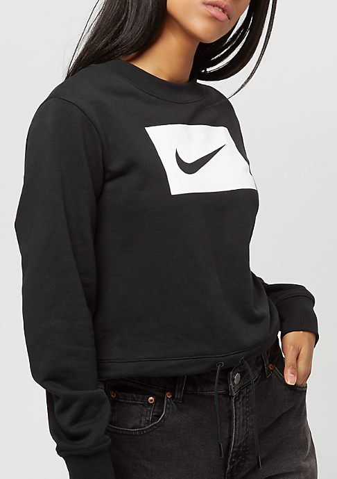 NIKE Crop Swsh black/white